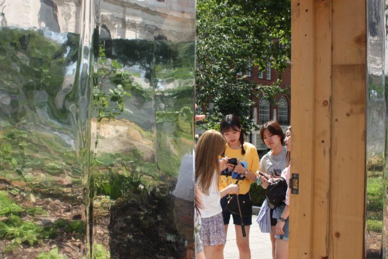 Lietuviško miško instaliaciją Londone aplankė daugiau nei 10 tūkst. smalsuolių