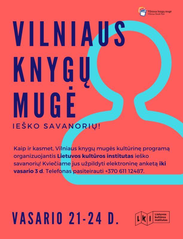 Ieškome savanorių Vilniaus knygų mugei!