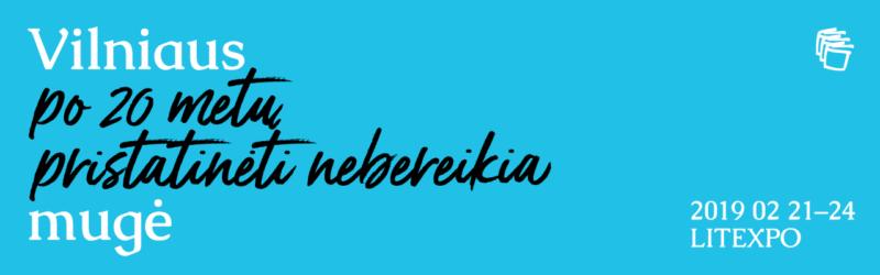 Vilniaus knygų mugės 2019 m. kultūrinių renginių programa