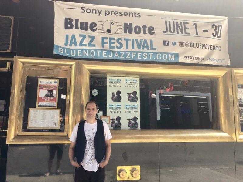"""Perkusininkas Dalius Naujo legendiniame """"Blue Note"""" džiazo klube Niujorke"""