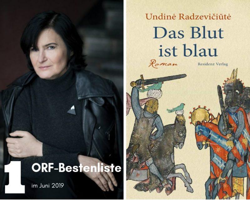 """Undinės Radzevičiūtės romanas """"Kraujas mėlynas"""" Austrijoje išrinktas geriausia 2019-ųjų birželio knyga"""