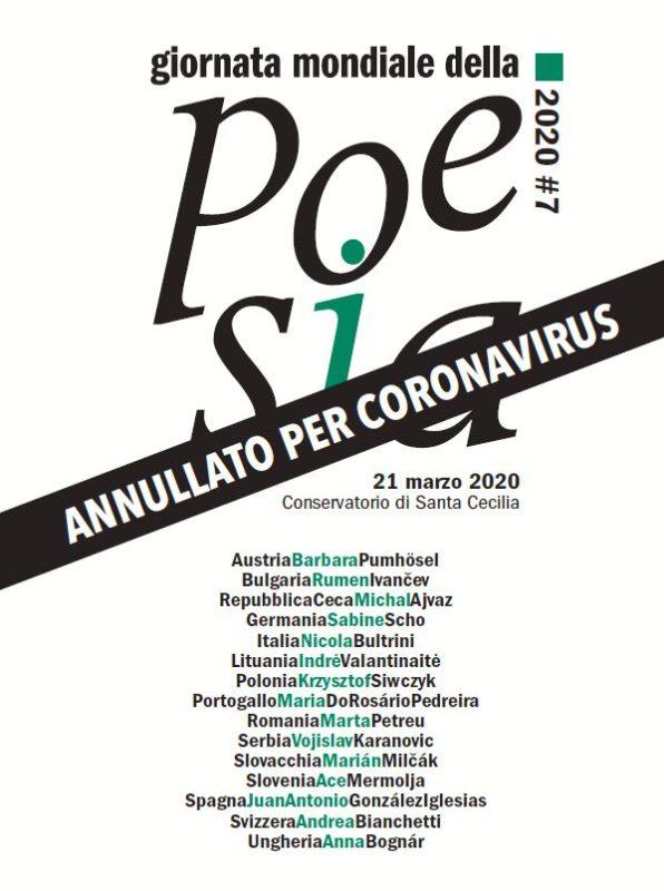 Atšaukus Poezijos dienos renginį Romoje išleista visus dalyvius pristatanti brošiūra
