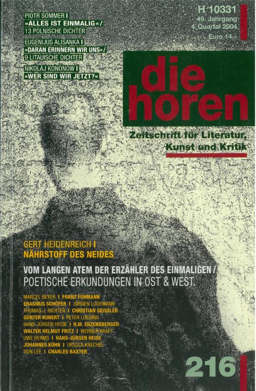 Die horen: Zeitschrift für Literatur, Kunst und Kritik