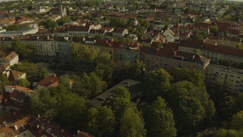 Buvęs Vilniaus žydų getas iš paukščio skrydžio