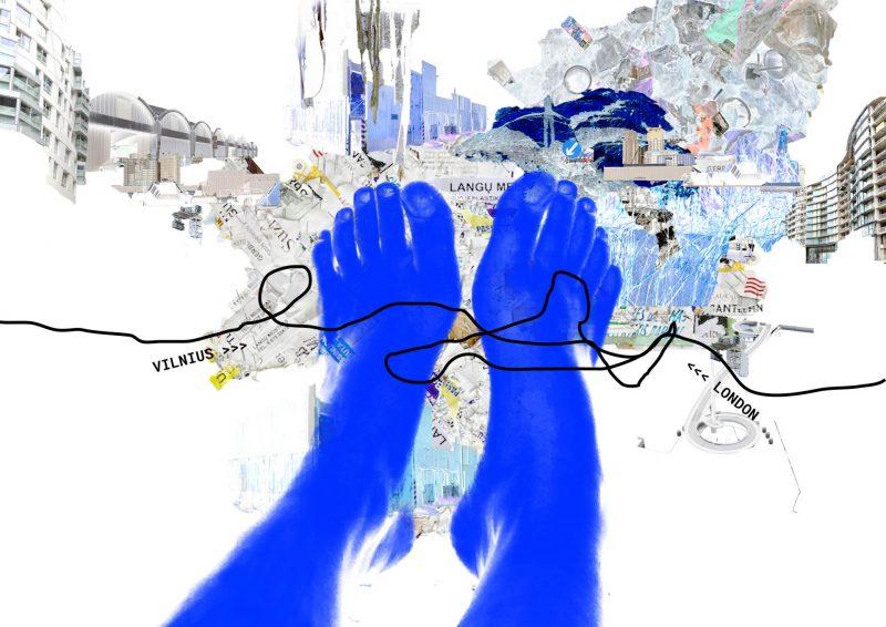 Meno kūrinys, kuriame vaizduojamos žmogaus pėdos