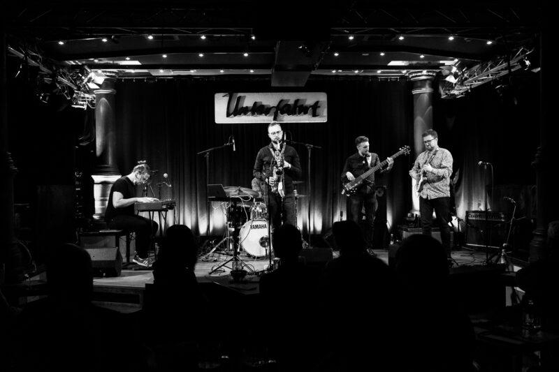 4 džiazo muzikantų fotografija