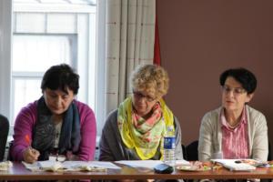 025 literatūros vertėjos Nana Davidze, Vytene Muschic, Carmen Caro Dugo isvertusi Donelaičio metus