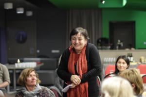 112 Literatūros vertėjų seminaras Kėdainiuose vertėja į gruzinų kalbą Nana Davidzė pristato savo ateities profesinius planus
